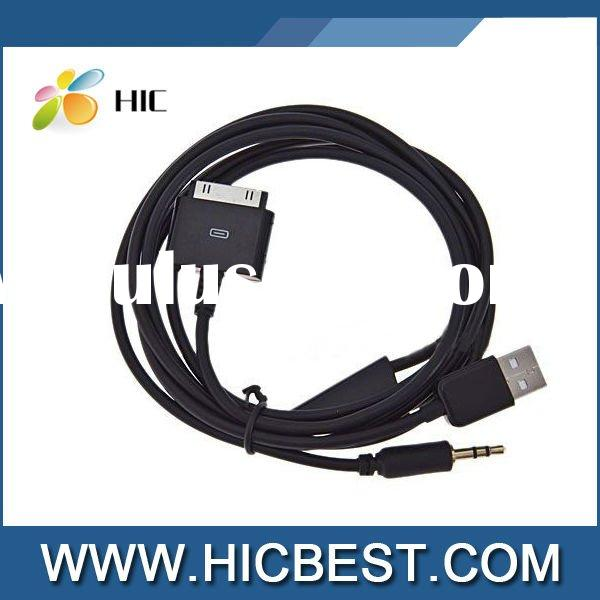 USB 3.5mm AUX Audio/Data/Charger Cable for iPod/iPhone