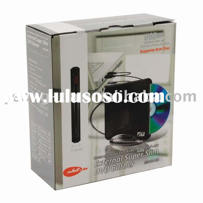 USB DVD Burner Paper Box Printing and Packaging