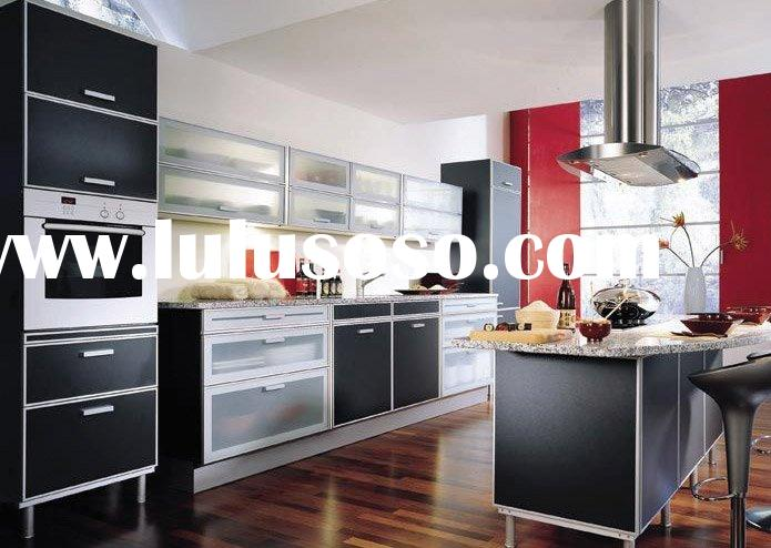 UV Lacquer Kitchen Cabinet with Granite Countertop and Stainless Steel Sink