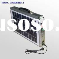 Ultra Thin 15W Portable Solar System with Embedded LED Light and AC Charger