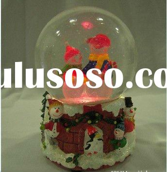 Unique Moving Brilliant LED Glitter Water Santa Claus Design Christmas Crystal Ball