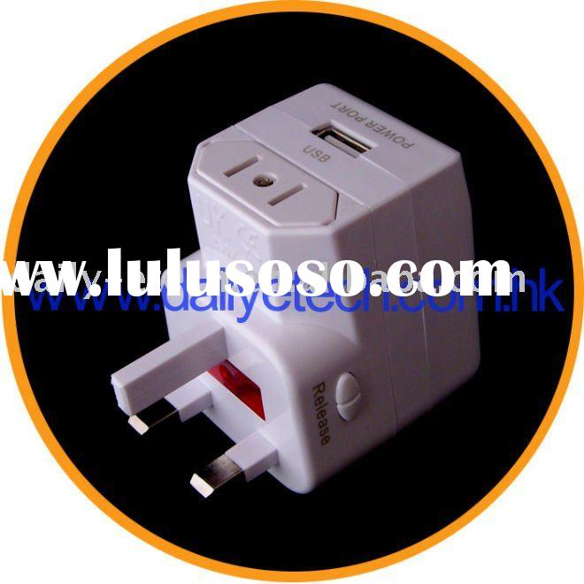 Universal World Travel Adapter Converter with USB power