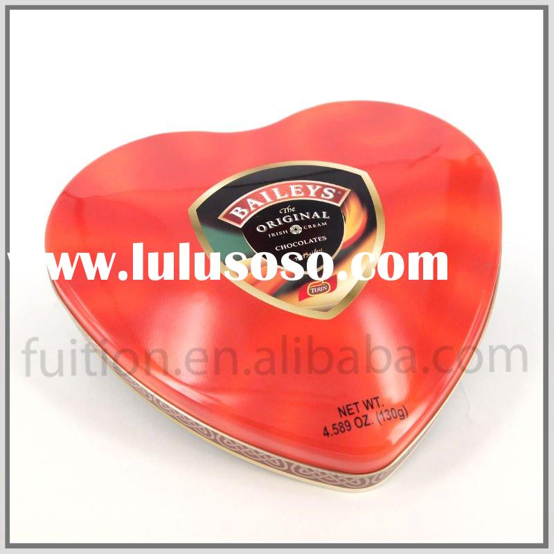 Valentive Heart Gift Packing Tin Can Metal Box