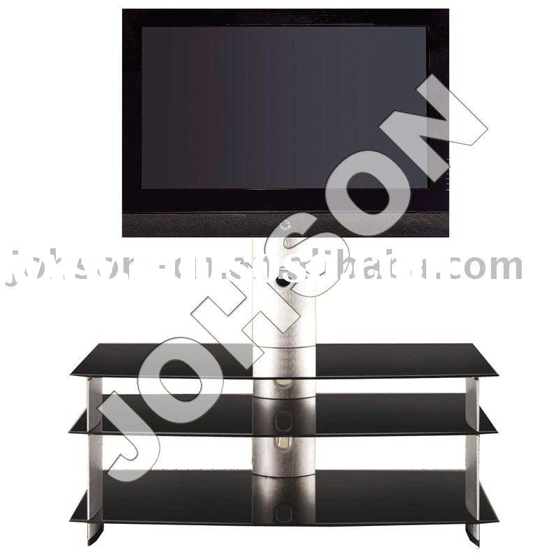 WOOD GLASS LCD STAND