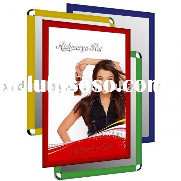 Wall mounted colored snap frame poster holder