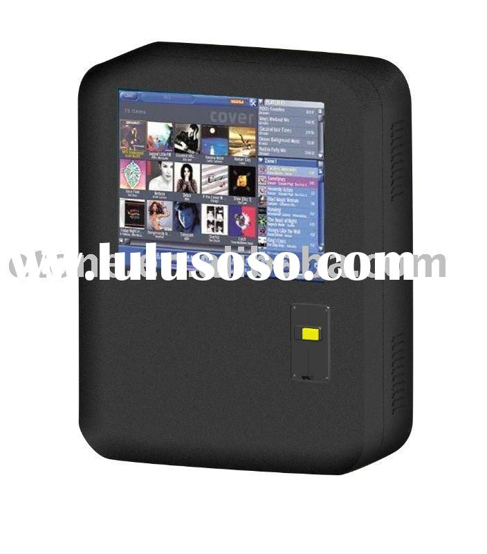 Wall-mounted touch screen Jukebox kiosk