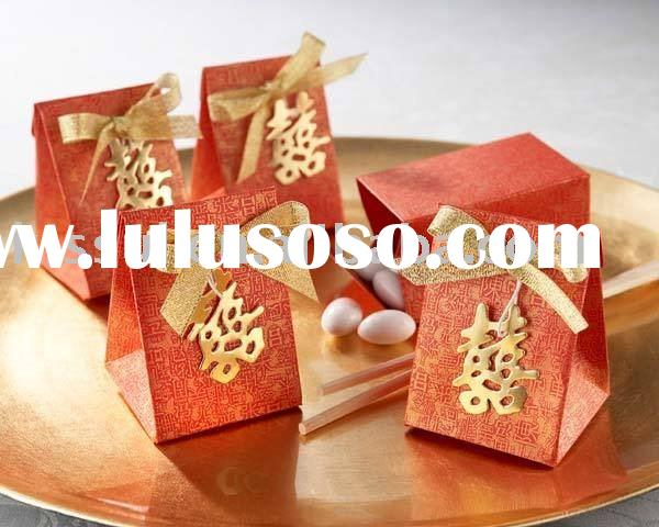 """Wedding Favor--""""Four Double Happiness In Side Wedding"""