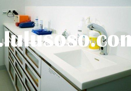 White Corian Solid Surface Kitchen Countertop