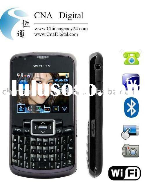 WiFi Quad Band Dual-SIM Cellphone with QWERTY Keyboard unlocked cell phone