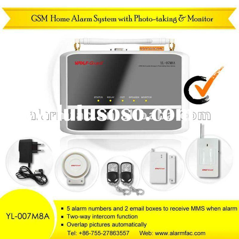 Wireless GSM Alarm System with MMS&SMS & Infrared Camera