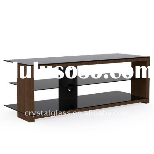"""Wood and Glass TV Stand for TV's sized 32""""-55"""""""