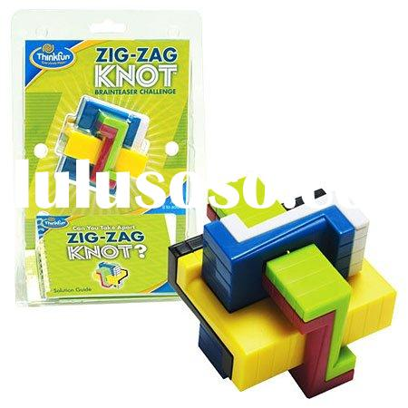 Z-Knot Puzzle Game Brain Teaser Take Apart Magic Building Blocks Luban Lock Z Knot