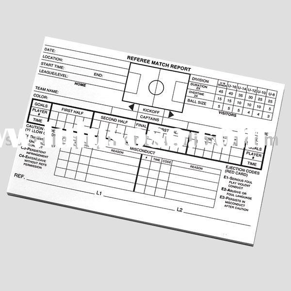 #MRP50 Match Report PAD - Football & Soccer Referee Equipment