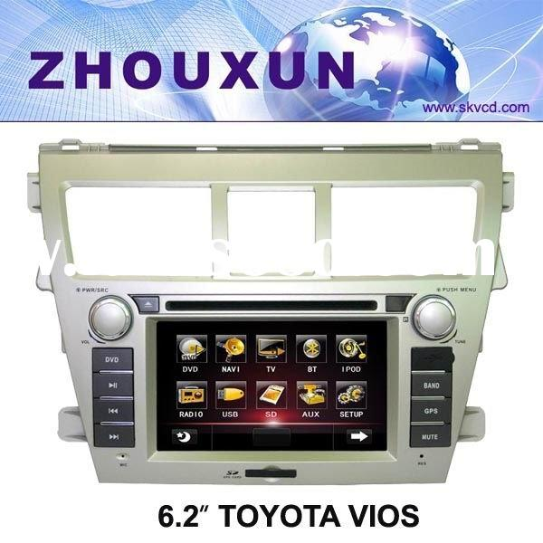 "(Toyota VIOS) 6.2"" car DVD GPS player with TV+Radio+Bluetooth"