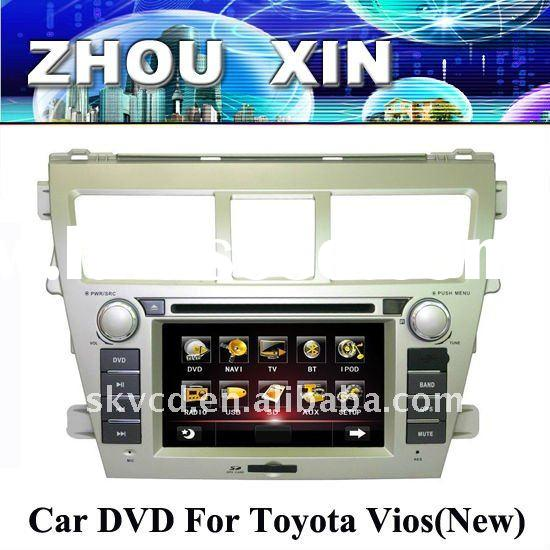 (Toyota VIOS (new)) 6.2 Inch two din Car DVD player with GPS,bluetooth