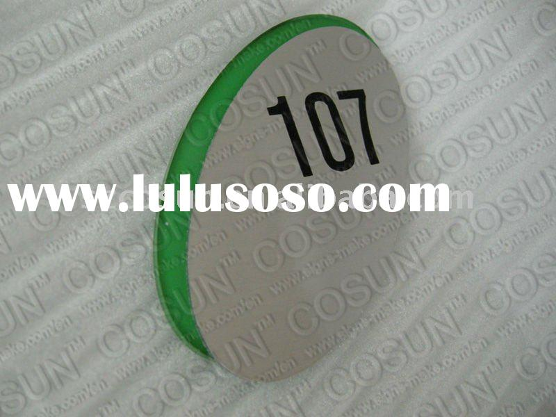 acrylic door number name sign plate