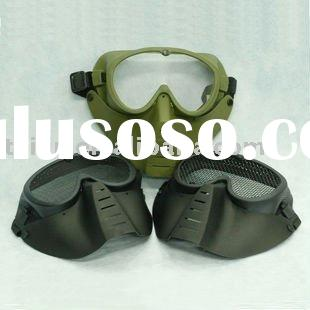 airsoft full face, mask, paintball goggles, helmet, eye protection