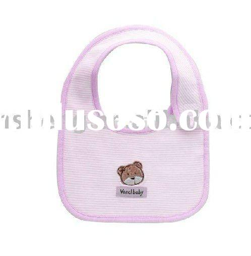 baby products ,cotton baby bib,baby cute embroidery bib