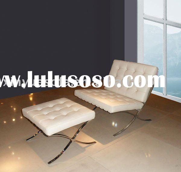 barcelona chairs A602-cream white,leather,design chairs,modern classic furniture
