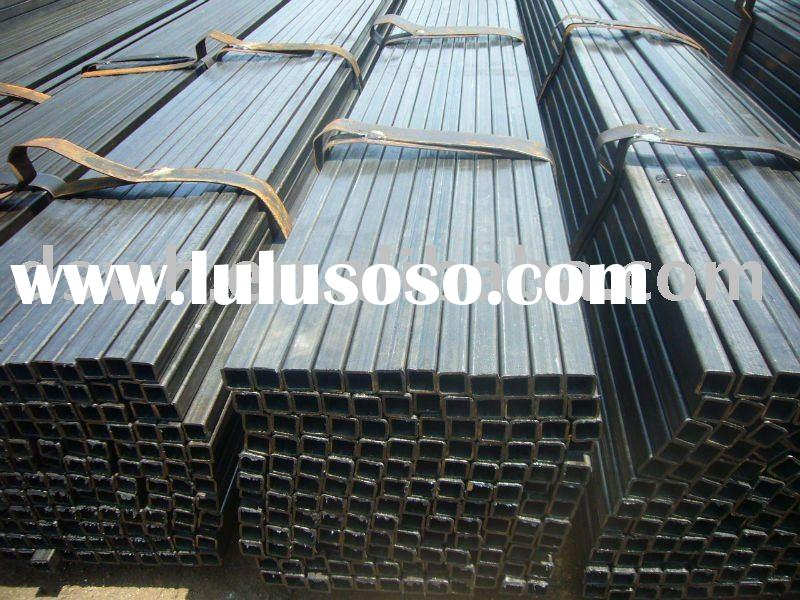 black hollow section steel pipe and tubes