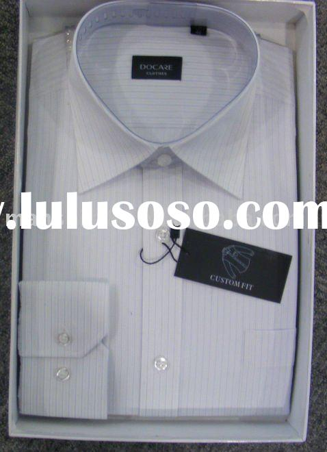 box packing 100% cotton uniform shirt for man