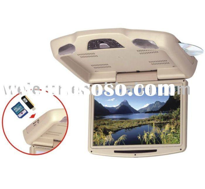 car DVD player Flip Down LCD Monitor with USB port & SD card reader