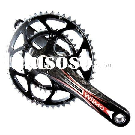 carbon road bike crankset, full carbon bicycle crankset, road bike crankset, bicycle parts