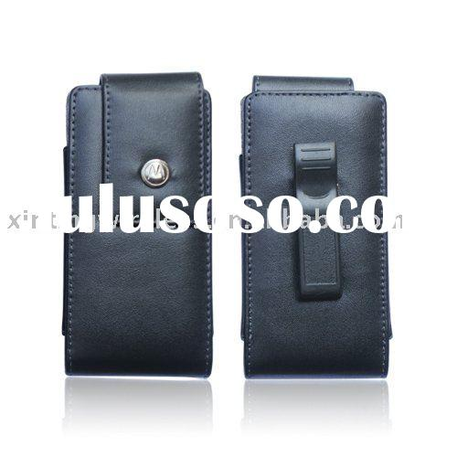 cell phone accessories leather pouch for Motorola HTC APPLE( Premium quality)