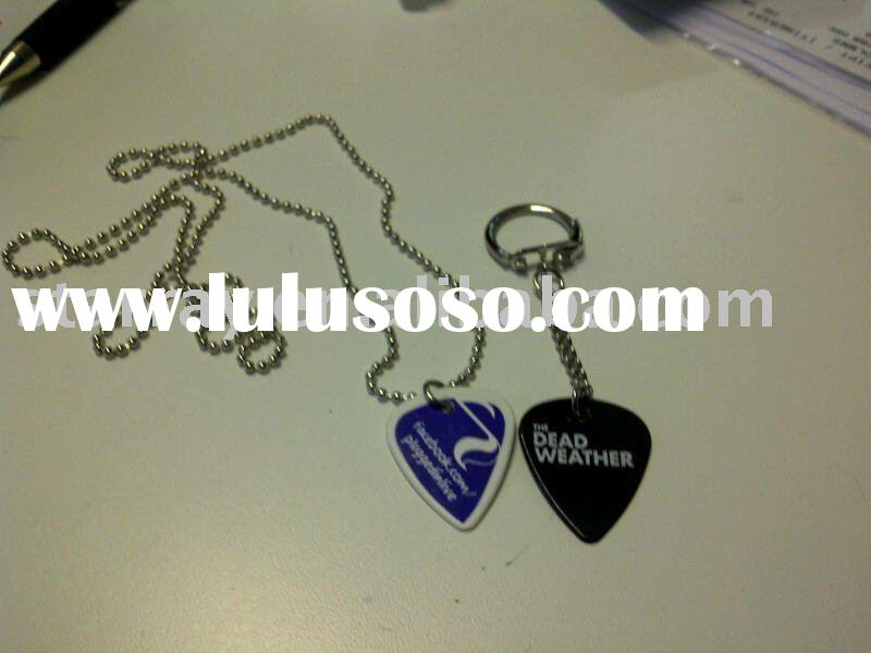 cheapest guitar picks keyrings and necklace as guitar parts