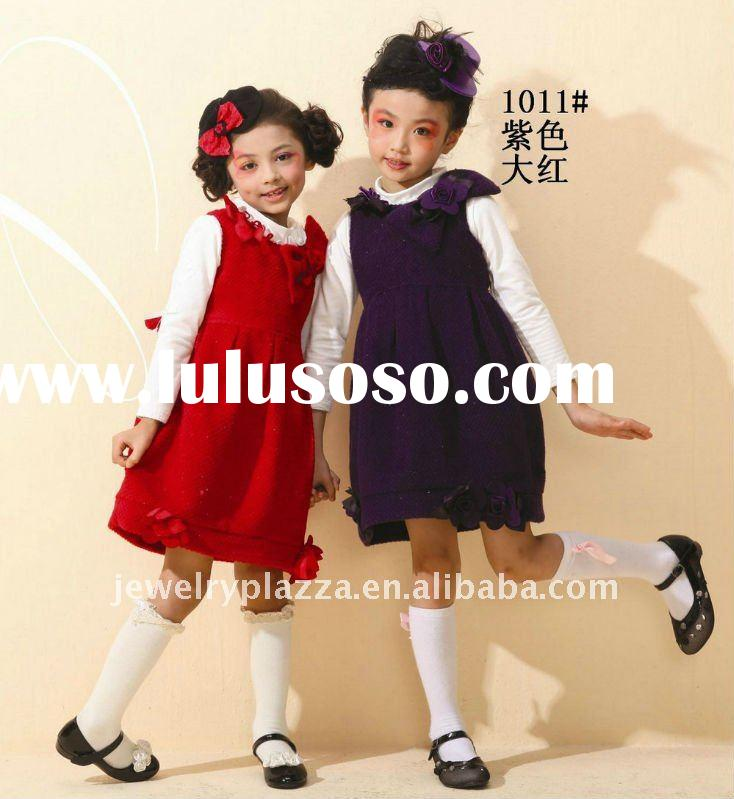 children hot sale dress, kids clothes, 2011 fashion design