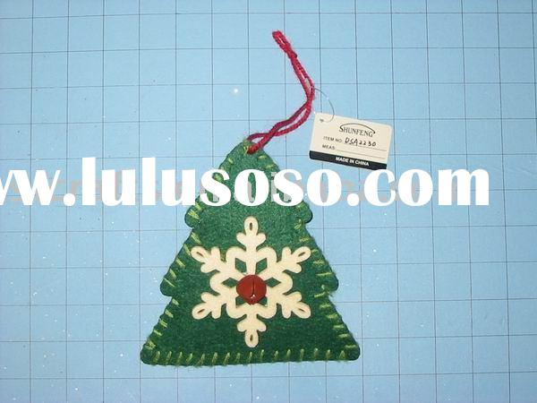 christmas tree hanging ornament,santa felt decoration