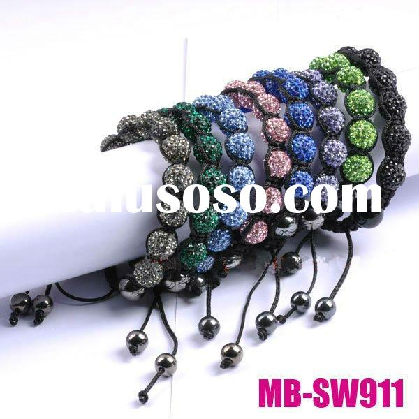 color beads shamballa bracelet wholesale (MB-SW911)