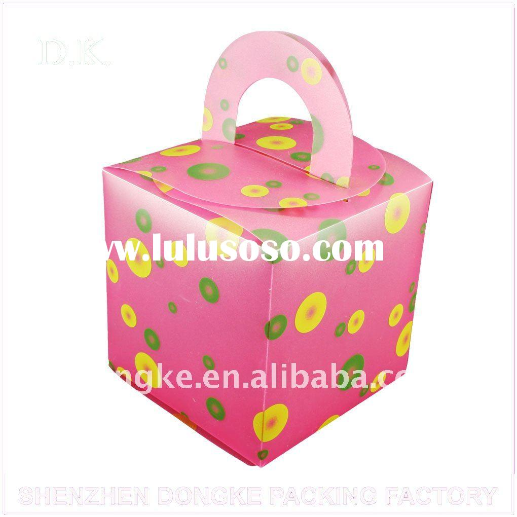 coloured candy gifts sweet box with offset /silkscreen printing