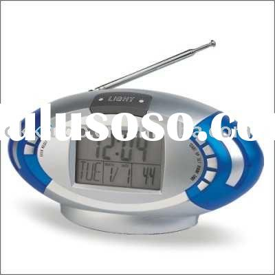 digital alarm clock radio thermometer calendar