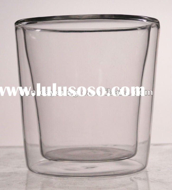 double-layer glass water cup