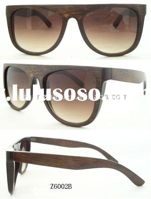fashion designer bamboo sunglasses polarized lens can do wooden material