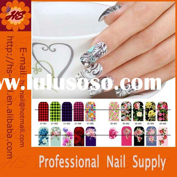 fashion printing silk nail sticker/nail art