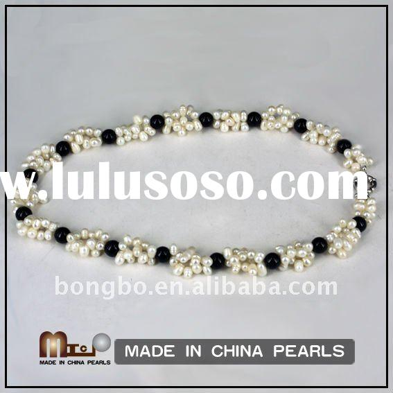fashion round freshwater pearl necklace jewelry