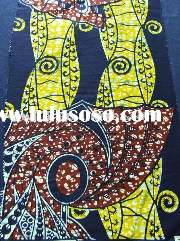 fashion veritable wax prints textile/africa cotton real wax printed textile/sosso wax fabric(R9024)
