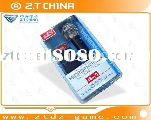 for Wii/PS3/PS2/XBOX 360 4in1 wireless karaoke microphone