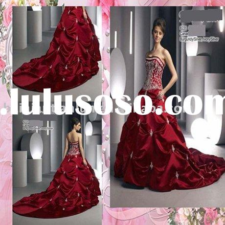 free shipping!!!2009 new style designer embroidered red wedding dress