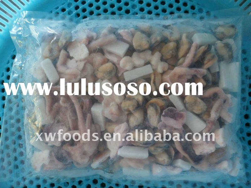 frozen seafood mix, FORM A available