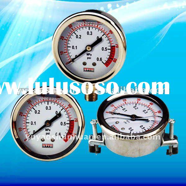 glycerine filled stainless steel pressure gauge for shock resistant
