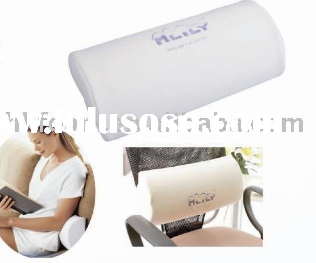 half moon memory foam pillow, lumbar support, back cushion, waist pillow