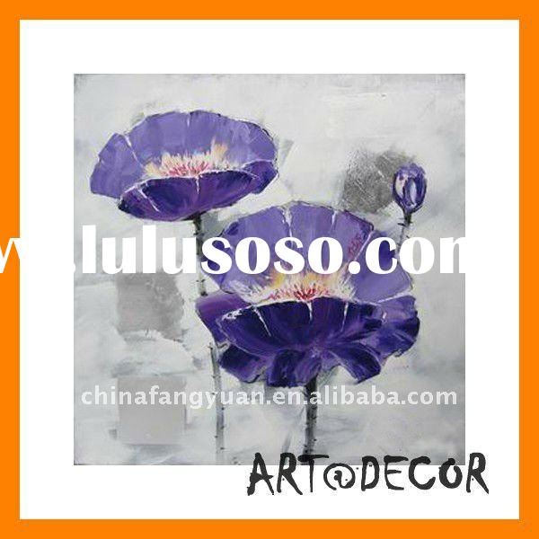 high quality handpainted blue flowers blue oil painting canvas
