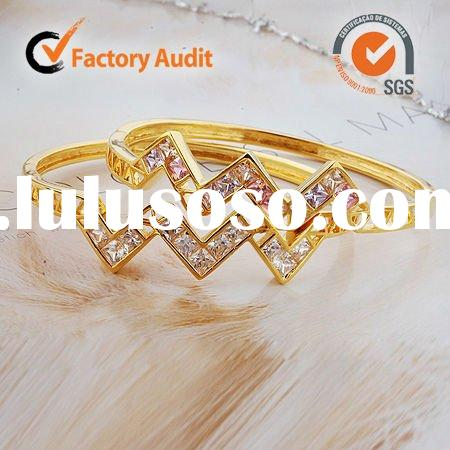 hot sale newest 18K gold plated fashion bangles