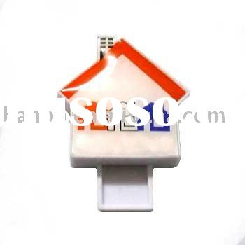 house shaped USB DISK, real estate usb flash, usb in house shape