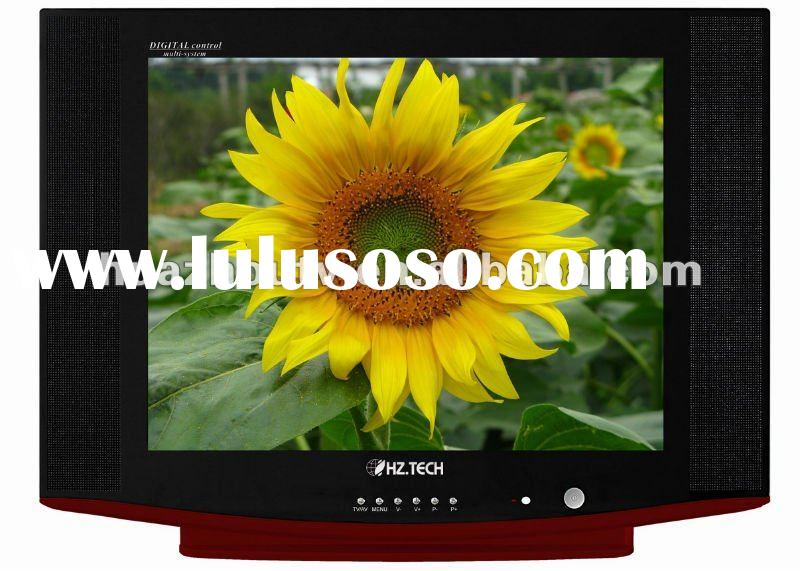 latest 21 inch pure flat and ultra slim crt color tv