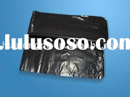 ldpe black recycle plastic garbage bag on roll
