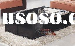 living room furniture fancy wooden modern coffee table glass top